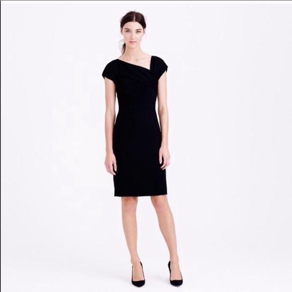 591f2157 J. Crew Dresses   J Crew Origami Sheath Dress In Black Wool Crepe 6 ...